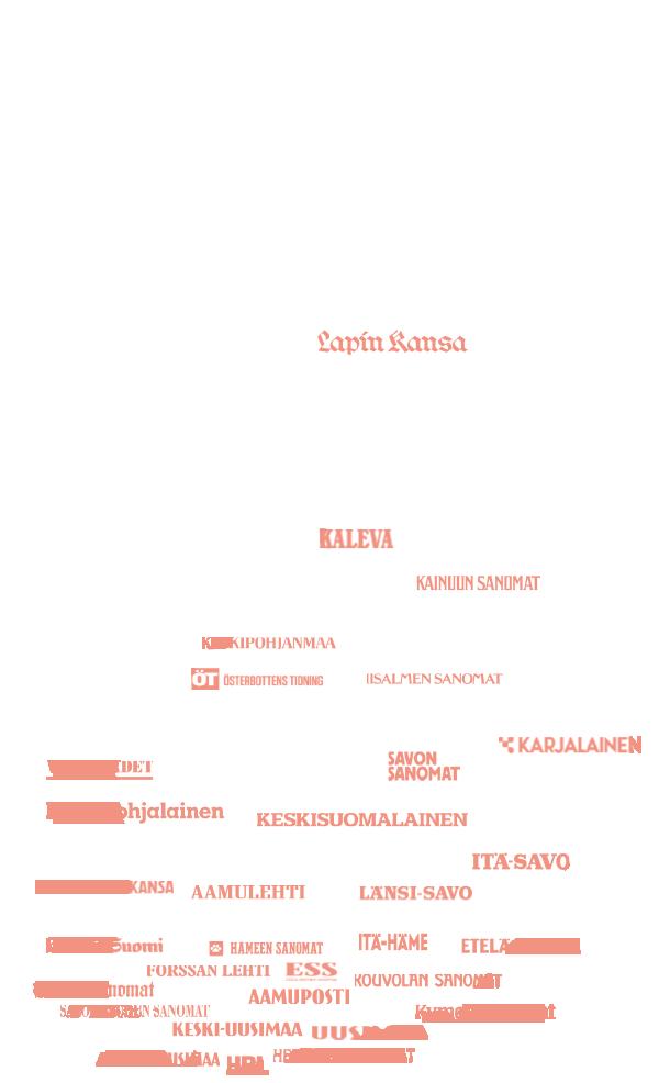 Kärkimedian lehdet Suomen kartalla